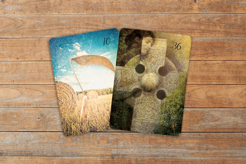Professionelle Deutung der Lenormandkarten Kombination Sense und Kreuz