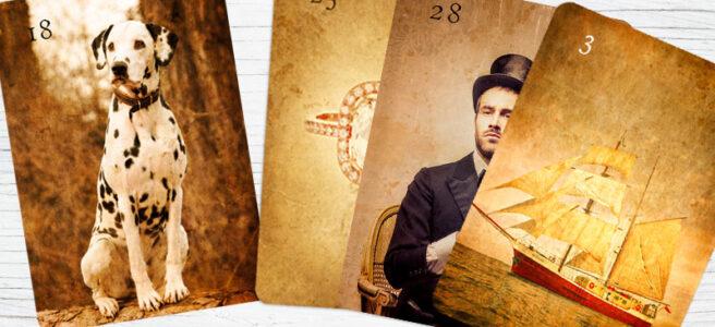 Thema Geduld und seine Kombinationen in den Lenormandkarten
