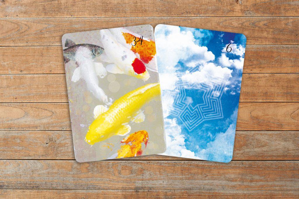 Deutung der Lenormandkarten Kombination Fische und Wolken