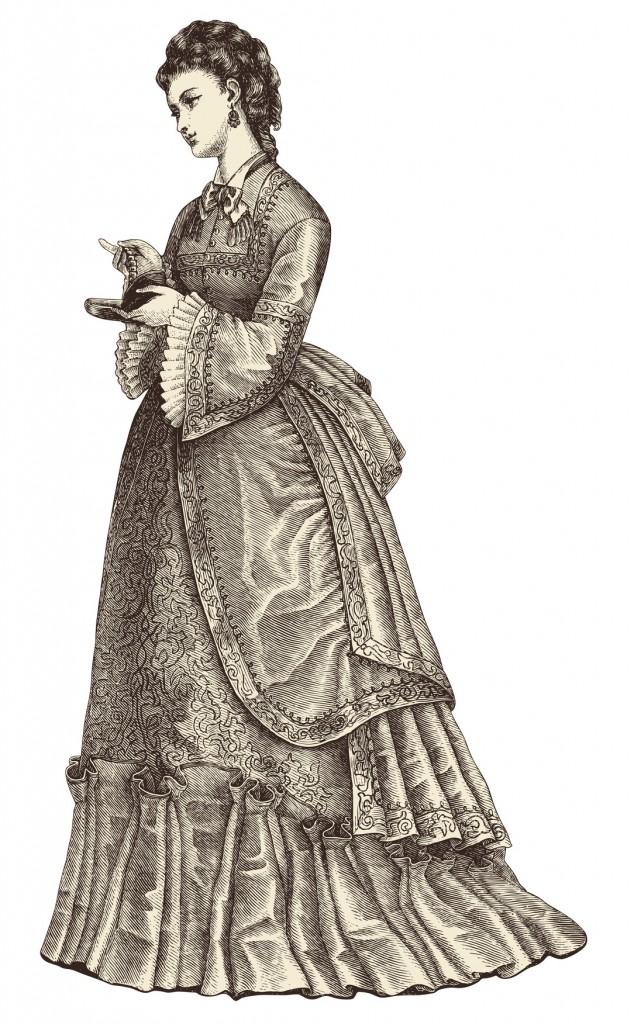beautiful young lady wearing an evening dress