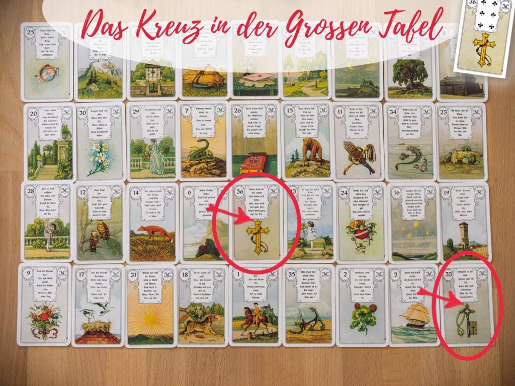 """Brief Und Kreuz Lenormand : Die große tafel lenormandkarte """"das kreuz"""" und seine"""