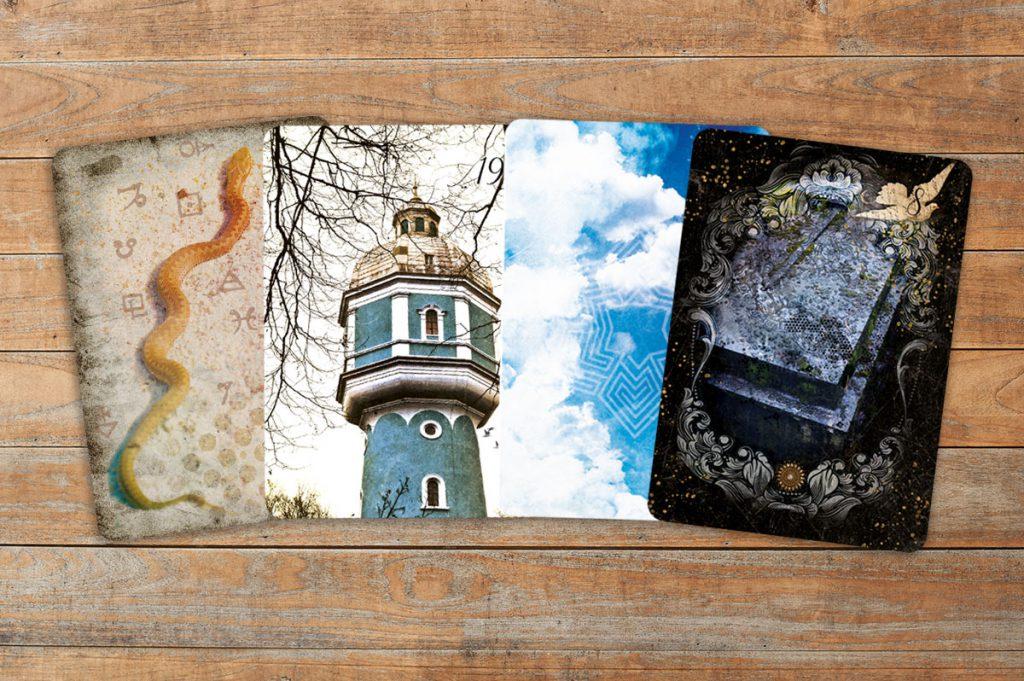 Die Lenormandkarten Sarg, Turm, Wolken und Schlange positiv gedeutet