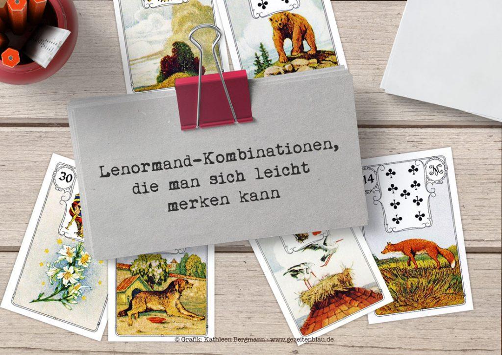 Kombinationen mit Lenormandkarten, die leicht zu merken sind