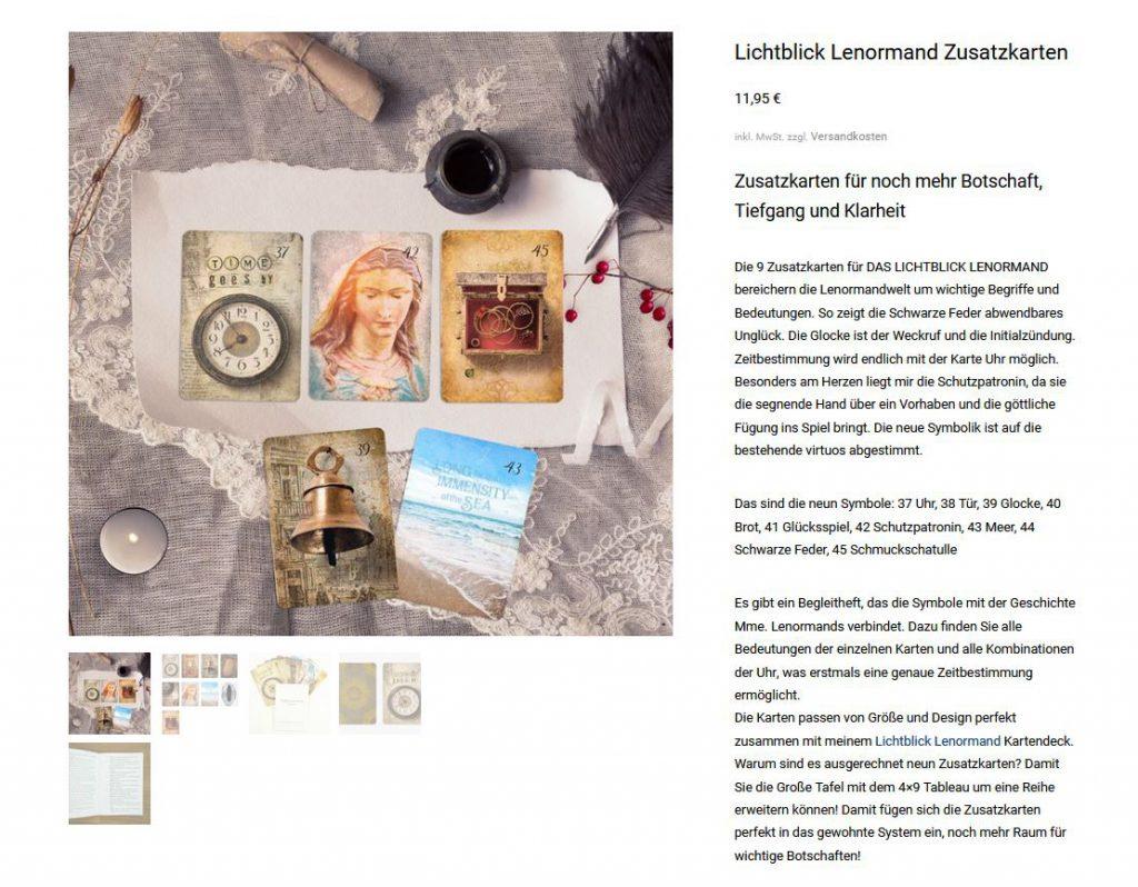 Die 9 Lichtblick Lenormand Zusatzkarten von Kathleen Bergmann