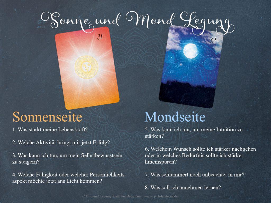 Die Sonne und Mond Lenormand Legung zur inneren Führung und Stärkung