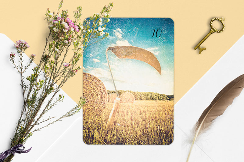 Sense Schlüssel Blumen Lenormandkarte Lichtblick Lenormand Deck