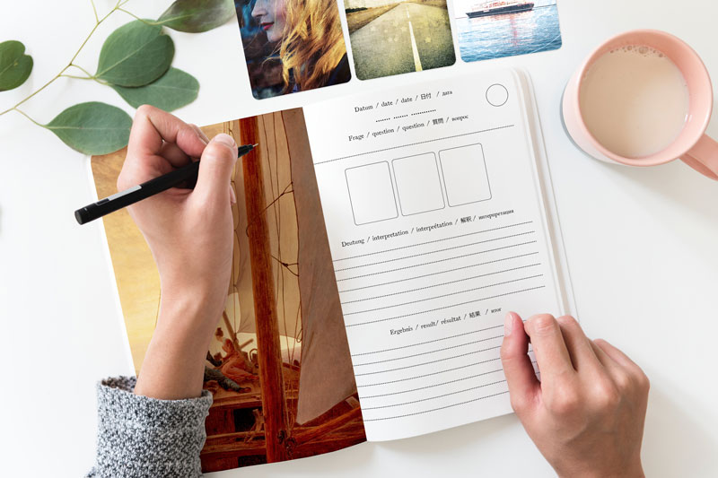 Lenormand Journal für Übungen mit 3er Kombinationen