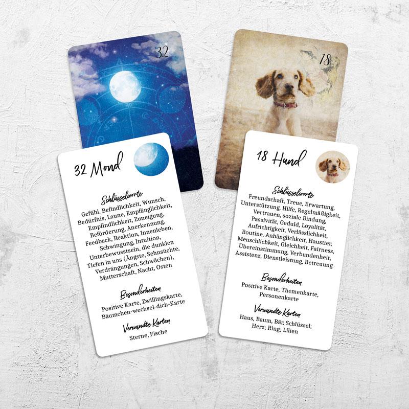 Lenormand Deutungshelfer Beispiel Mond und Hund