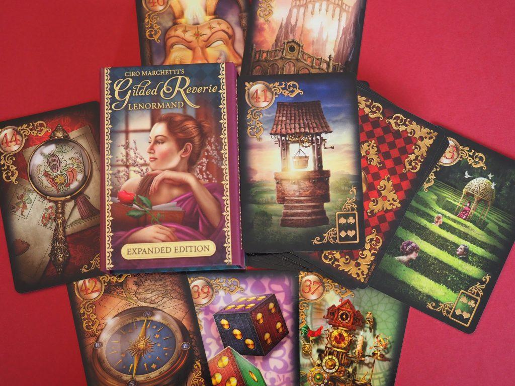 Die acht Zusatzkarten des Gilded Reverie Lenormand