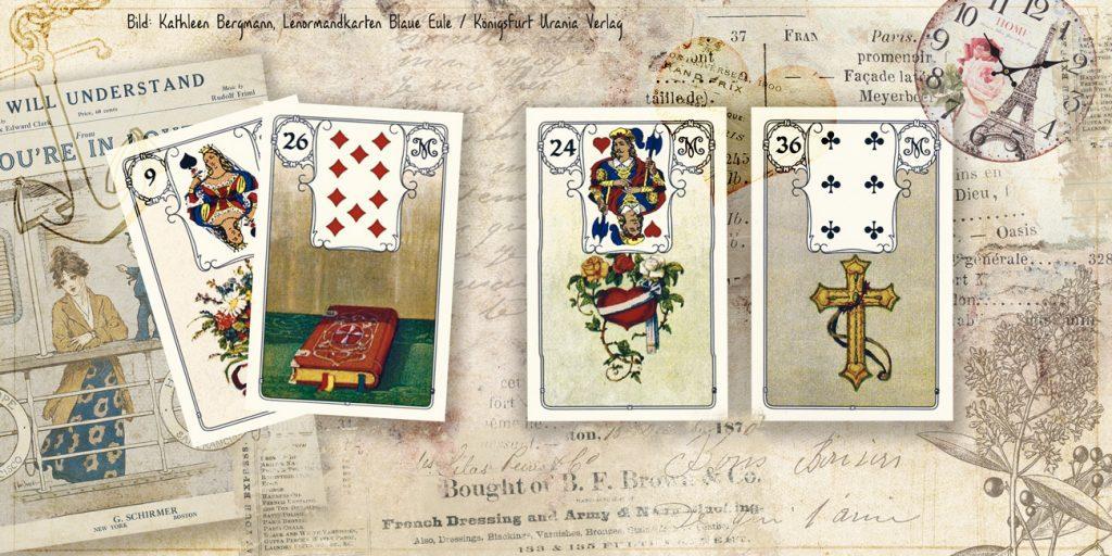 Herz und Kreuz mit weiteren Karten - Lenormandkarten Kombinationen