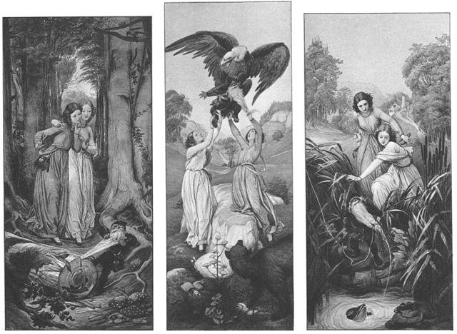 Märchenhaftes Lenormand – Symbolik der Karten Lilien und Blumen in Schneeweißchen und Rosenrot
