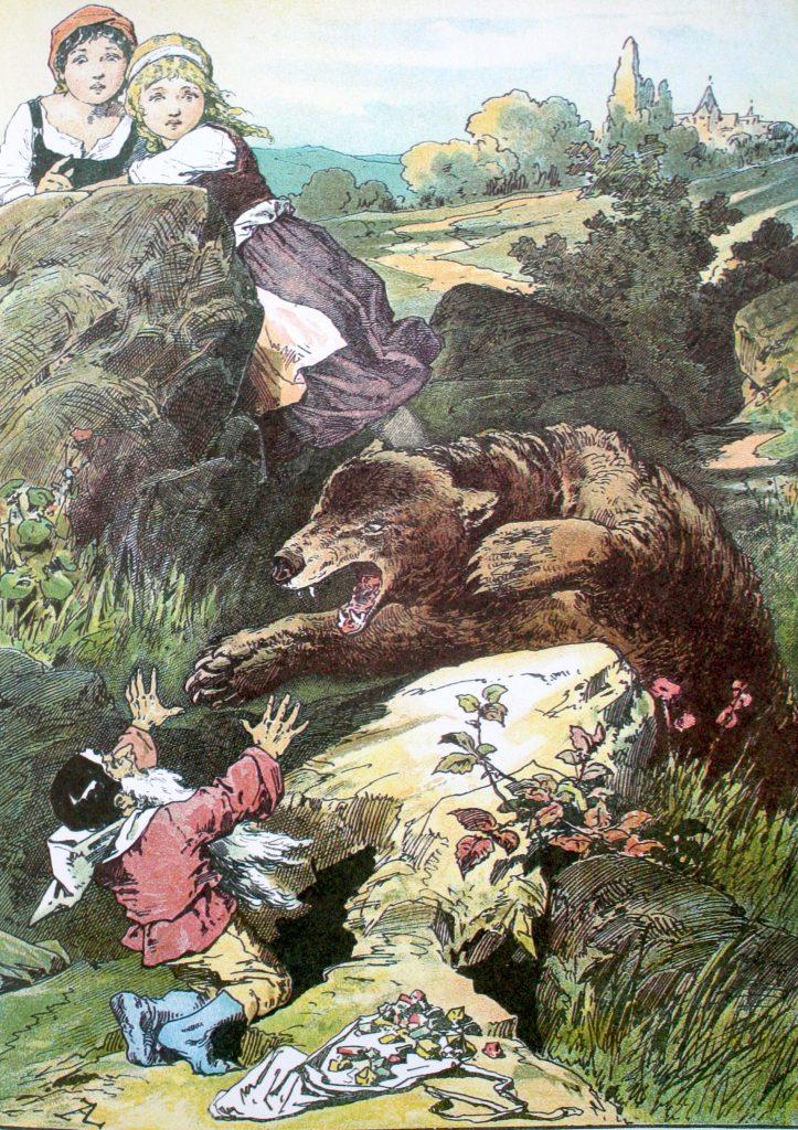 Märchenhaftes Lenormand – Symbolik des Bären in Schneeweißchen und Rosenrot