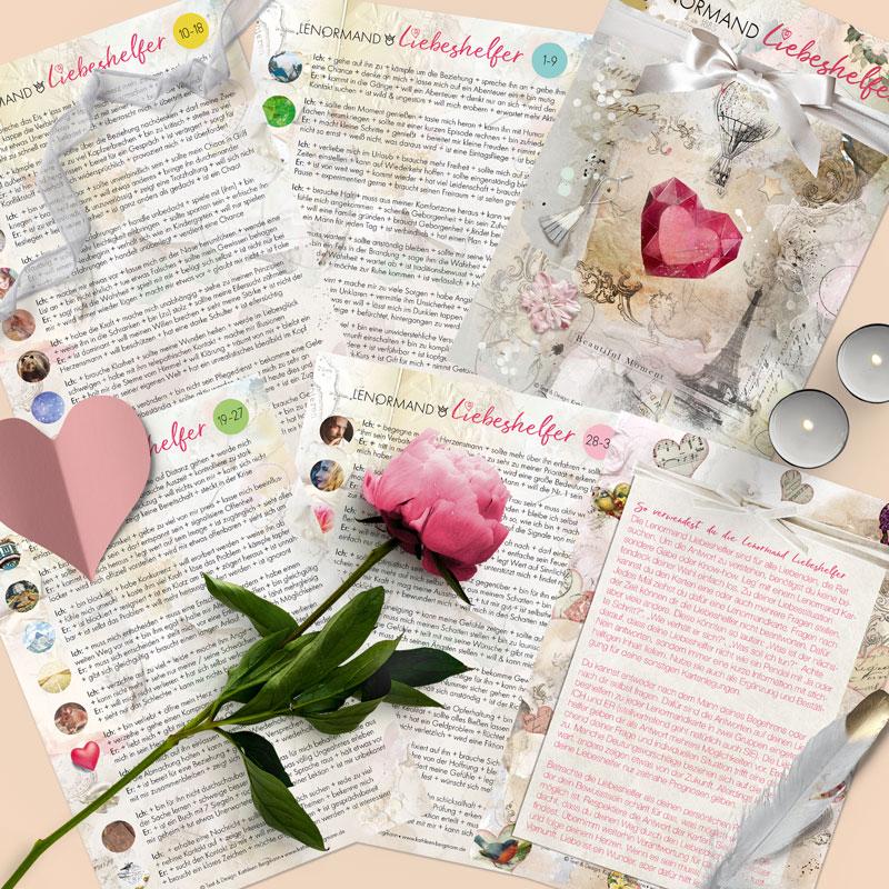 Lenormand Liebeshelfer Karten