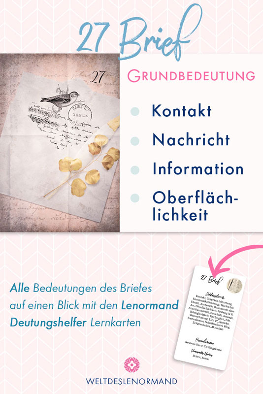 Bedeutung und Kombinationen der Lenormandkarte Brief
