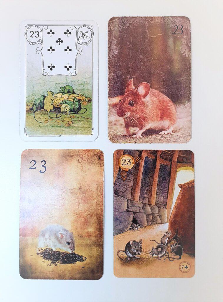 Warum unterscheiden sich die Blickrichtungen in den Lenormand Kartendecks?